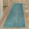 "Liora Manne Carmel Texture Stripe Indoor/Outdoor Rug Teal 23""X7'6"""