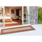 "Liora Manne Carmel Multi Border Indoor/Outdoor Rug Red 23""X7'6"""