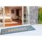 """Liora Manne Carmel Mosaic Indoor/Outdoor Rug Navy 23""""X7'6"""""""