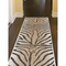 "Liora Manne Carmel Zebra Indoor/Outdoor Rug Sand 23""X7'6"""