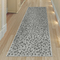 "Liora Manne Carmel Leopard Indoor/Outdoor Rug Grey 23""X7'6"""