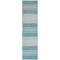 """Liora Manne Carmel Stripe Indoor/Outdoor Rug Aqua 23""""X7'6"""""""