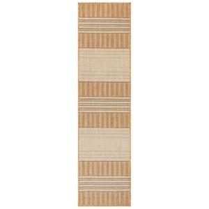 """Liora Manne Carmel Stripe Indoor/Outdoor Rug Sand 23""""X7'6"""""""