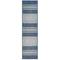 """Liora Manne Carmel Stripe Indoor/Outdoor Rug Navy 23""""X7'6"""""""
