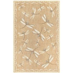 """Liora Manne Carmel Dragonfly Indoor/Outdoor Rug Dark Sand 23""""X7'6"""""""