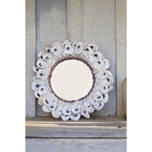Small Round Oyster Shell Mirror