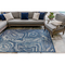 "Liora Manne Carmel Agate Indoor/Outdoor Rug Navy 39""X59"""