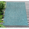 """Liora Manne Carmel Texture Stripe Indoor/Outdoor Rug Aqua 39""""X59"""""""