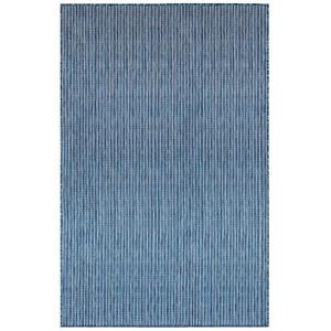 """Liora Manne Carmel Texture Stripe Indoor/Outdoor Rug Navy 39""""X59"""""""