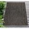 """Liora Manne Carmel Texture Stripe Indoor/Outdoor Rug Black 39""""X59"""""""