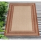"Liora Manne Carmel Multi Border Indoor/Outdoor Rug Red 39""X59"""