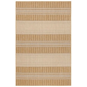 """Liora Manne Carmel Stripe Indoor/Outdoor Rug Sand 39""""X59"""""""