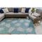 """Liora Manne Carmel Seaturtles Indoor/Outdoor Rug Aqua 4'10""""X7'6"""""""