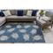 "Liora Manne Carmel Seaturtles Indoor/Outdoor Rug Navy 4'10""X7'6"""