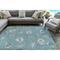 "Liora Manne Carmel Shells Indoor/Outdoor Rug Aqua 4'10""X7'6"""