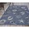 "Liora Manne Carmel Shells Indoor/Outdoor Rug Navy 4'10""X7'6"""