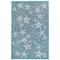 "Liora Manne Carmel Starfish Indoor/Outdoor Rug Aqua 4'10""X7'6"""