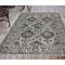 """Liora Manne Carmel Vintage Floral Indoor/Outdoor Rug Black 4'10""""X7'6"""""""