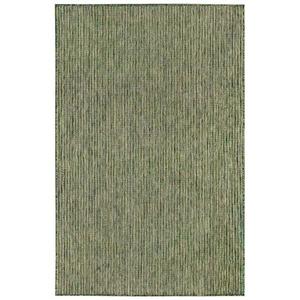 """Liora Manne Carmel Texture Stripe Indoor/Outdoor Rug Green 4'10""""X7'6"""""""