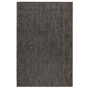 """Liora Manne Carmel Texture Stripe Indoor/Outdoor Rug Black 4'10""""X7'6"""""""
