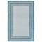 """Liora Manne Carmel Multi Border Indoor/Outdoor Rug Aqua 4'10""""X7'6"""""""