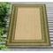"Liora Manne Carmel Multi Border Indoor/Outdoor Rug Green 4'10""X7'6"""