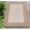 "Liora Manne Carmel Multi Border Indoor/Outdoor Rug Sand 4'10""X7'6"""