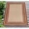 "Liora Manne Carmel Multi Border Indoor/Outdoor Rug Red 4'10""X7'6"""