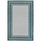 "Liora Manne Carmel Multi Border Indoor/Outdoor Rug Teal 4'10""X7'6"""
