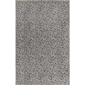 "Liora Manne Carmel Leopard Indoor/Outdoor Rug Grey 4'10""X7'6"""