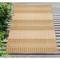 """Liora Manne Carmel Stripe Indoor/Outdoor Rug Sand 4'10""""X7'6"""""""