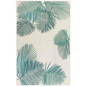 "Liora Manne Carmel Palm Indoor/Outdoor Rug Aqua 4'10""X7'6"""