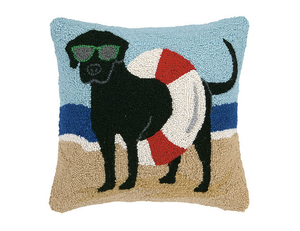 Lab In Tube Beach Hook Pillow