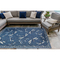 "Liora Manne Carmel Dragonfly Indoor/Outdoor Rug Navy 4'10""X7'6"""