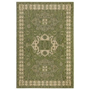 "Liora Manne Carmel Kilim Indoor/Outdoor Rug Green 6'6""X9'4"""