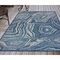 "Liora Manne Carmel Agate Indoor/Outdoor Rug Navy 6'6""X9'4"""