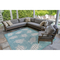 """Liora Manne Carmel Seaturtles Indoor/Outdoor Rug Aqua 6'6""""X9'4"""""""