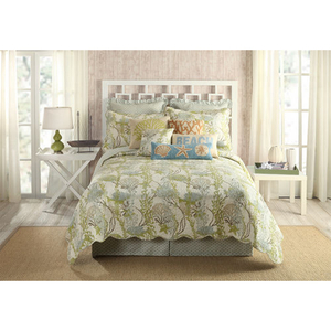 Ocean Botanical Coastal Bedding Quilt