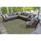 """Liora Manne Carmel Texture Stripe Indoor/Outdoor Rug Green 6'6""""X9'4"""""""