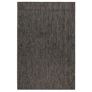 "Liora Manne Carmel Texture Stripe Indoor/Outdoor Rug Black 6'6""X9'4"""