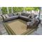 "Liora Manne Carmel Multi Border Indoor/Outdoor Rug Green 6'6""X9'4"""