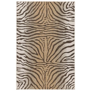 "Liora Manne Carmel Zebra Indoor/Outdoor Rug Sand 6'6""X9'4"""