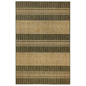 "Liora Manne Carmel Stripe Indoor/Outdoor Rug Green 6'6""X9'4"""