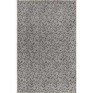 "Liora Manne Carmel Leopard Indoor/Outdoor Rug Grey 7'10"" Rd"