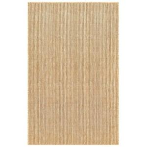 """Liora Manne Carmel Texture Stripe Indoor/Outdoor Rug Sand 7'10"""" Sq"""
