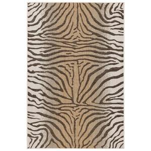 "Liora Manne Carmel Zebra Indoor/Outdoor Rug Sand 7'10"" Sq"