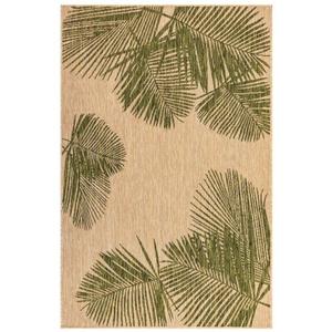 "Liora Manne Carmel Palm Indoor/Outdoor Rug Green 7'10"" Sq"
