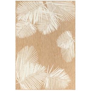 "Liora Manne Carmel Palm Indoor/Outdoor Rug Sand 7'10"" Sq"