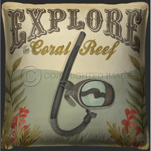 Explore The Coral Reef  Pillow