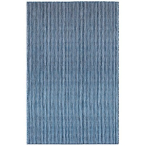 "Liora Manne Carmel Texture Stripe Indoor/Outdoor Rug Navy 7'10""X9'10"""